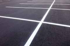 Parking Lot Painted Lines Stock Photo