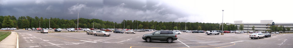 Parking lot after rain Royalty Free Stock Image