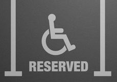 Parking Lot Reserved Royalty Free Stock Photos