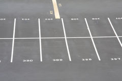 Parking lot row Stock Images