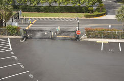 Parking lot security gate Royalty Free Stock Image