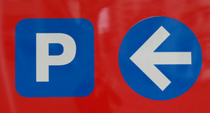 Parking lot sign Royalty Free Stock Photography