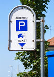 Parking lot sign Stock Image