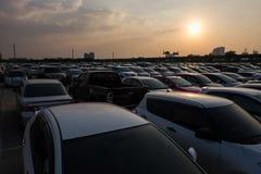 Parking lot sunset Stock Photos