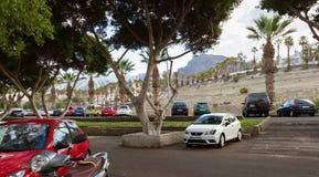 Parking lot in Tenerife. Stock Image