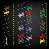 Parking lot top view Royalty Free Stock Image
