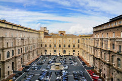 Parking Lot of the Vatican Museum Royalty Free Stock Photos