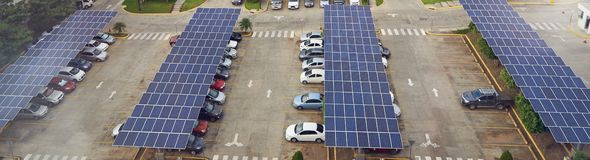 Parking Lot With Solar Panel On Roof Royalty Free Stock Photography