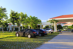 Parking lot of xiamen administration institute Stock Photography
