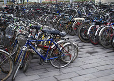 Parking lots Bicycles In Beijing,China Stock Image