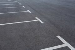 Parking spaces on the parking lot royalty free stock photo
