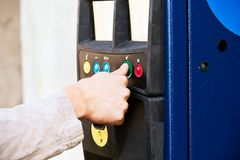 Parking machine Stock Image