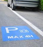 parking maksymalny czas Zdjęcia Stock