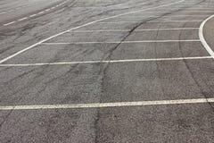 Parking markings Royalty Free Stock Image