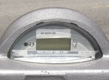 Parking Meter. Close-up of the digital display on a parking meter Royalty Free Stock Photography