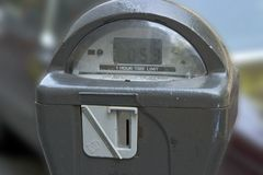 Parking Meter. Close up of parking meter Stock Photo