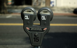 Parking Meter. Photo Electronic Parking Meter Stock Photography