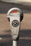 Parking Meter. A single expired parking meter Stock Photos