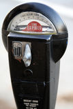 Parking Meter. With expired time waiting for the cop Royalty Free Stock Photo