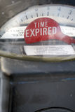 Parking Meter. Showing time expired message Stock Photos