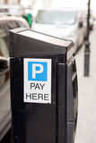 Parking meter. A black UK parking meter Stock Photography