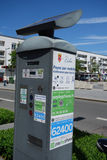 Parking meter in calais Stock Images