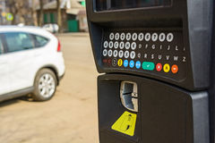 Parking meter in a city Royalty Free Stock Image