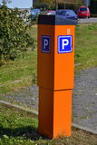 Parking meter. In city park Stock Images