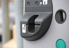 Parking meter closeup Stock Images