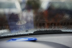 Parking meter on the dashboard Royalty Free Stock Images