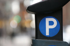 Parking meter. A parking meter found on the streets of New York City Stock Images