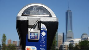 Parking Meter And Freedom Tower Royalty Free Stock Photos