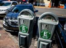 Parking Meter. S in downtown San Diego Royalty Free Stock Image
