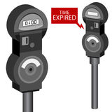 Parking Meter Set Royalty Free Stock Photos