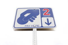 Parking meter sign Royalty Free Stock Image