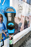 Parking meter and Street Art poster Stock Image