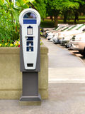 Parking Meter Ticket standing Pay Station Kiosk Terminal Stock Photography