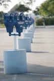 Parking meters. Row of parking meters royalty free stock photos