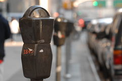 Parking Meters in New York City Royalty Free Stock Images