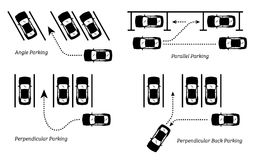 Parking Methods and Ways. Royalty Free Stock Image