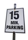 15 parking Minutowy znak Obraz Royalty Free