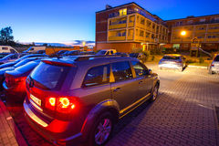 Parking of modern residential apartments Royalty Free Stock Image