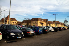 Parking near The Style Outlets. Roppenheim. France Stock Photography