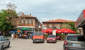 Parking of Nessebar in Bulgaria Stock Images