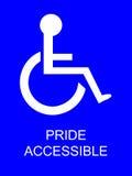 parking niepełnosprawna duma. Obraz Stock