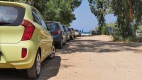 Parking od morza Zdjęcia Stock