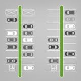 Parking odgórny widok Obrazy Stock