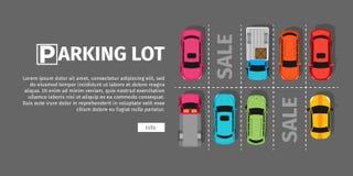 Parking odgórny widok royalty ilustracja