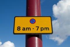 parking ograniczenia znak Obraz Royalty Free