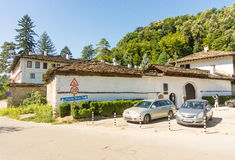 Parking in old Troyan Monastery, Bulgaria stock photos